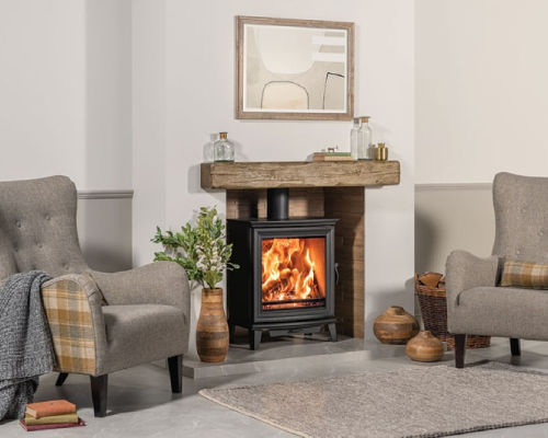 Stovax Chesterfield 5 Wide Wood 1